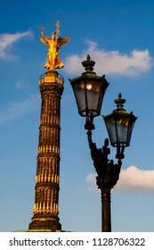 The Victory column, a monument in Berlin, Germany, in 2007 before renovation