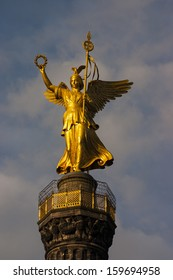 Victory Column in sunset, Berlin, Germany