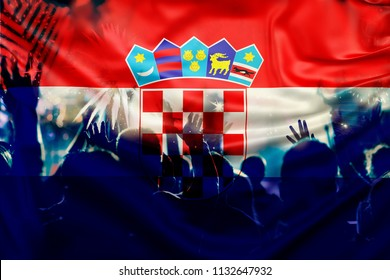 victory for croatia football fans celebrating