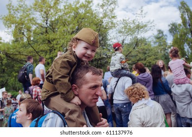 Victory Day in Russia, Kaliningrad, Victory Park, May 9, 2016