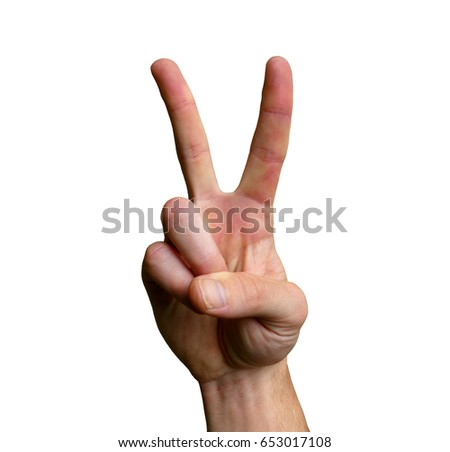 Victory Peace Sign Hand Hand Gesture Stock Photo Edit Now