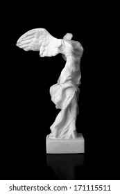 "The Victory of Samothrace is a marble sculpture of an unknown artist of the Hellenistic period found in the temple of the ""Great Gods"" in Samothrace, and represents the winged goddess Nike"