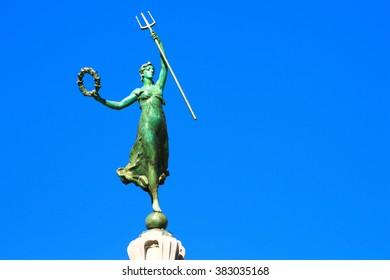 Victory Statue in Union Square, San Francisco CA.