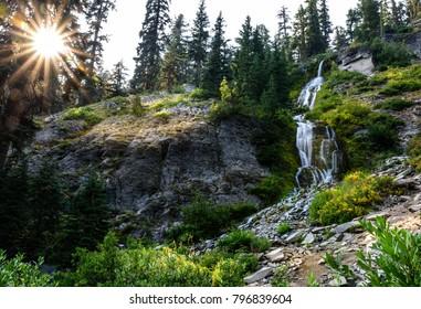 Vidae Falls in Crater Lake National Park, Oregon, United States