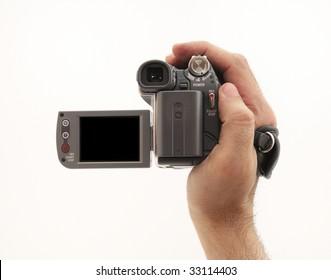 Video camera in hand