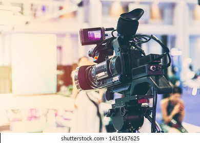 Video camera standby for recording at stage show no cameraman