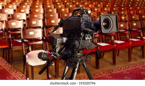 video camera in a theater Broadcasting and Recording with Digital Camera