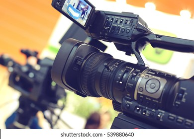 Video camera while filming