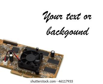 video card isolated on white blank