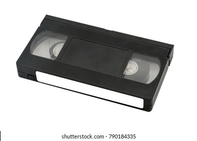 video cassette close up isolated on white background. old, record sound and images. Path Selection