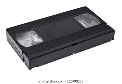 video cassette isolated on a white background