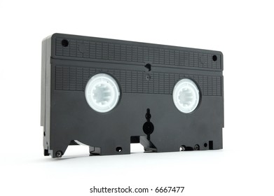 Video Cassette isolated on white