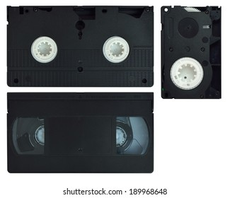Video cassette VHS. Isolated on white background