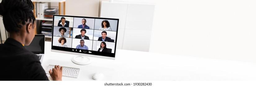 Vidéo Conférences Travail Webinaire En Ligne À La Maison