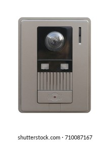 Video intercom security, guard house isolated on white background