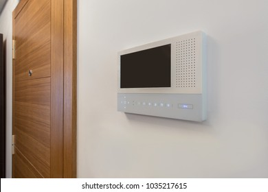 Video intercom, security system safety in modern apartment