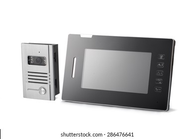 Video intercom with sensor touch screen for protecting public and private placements