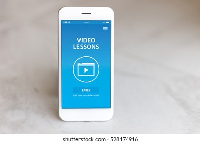 VIDEO LESSON CONCEPT ON SCREEN