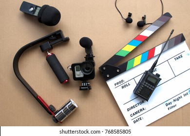 Video making equipment  in Video creator and Filmmaker concept
