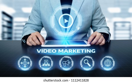 Video Marketing Advertising Businesss Internet Network Technology Concept.