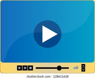 Video media player interface, raster