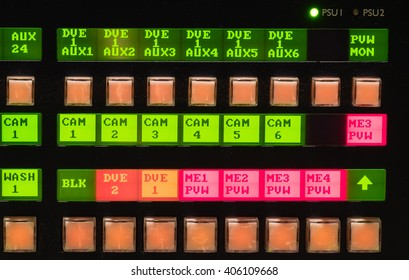 Video mixer,switcher TV station close up button