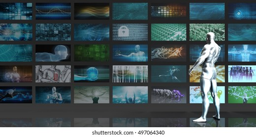 Video Streaming Entertainment Technology as a Concept 3D Render