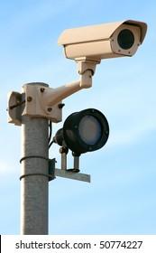 video surveillance camera with night lighting