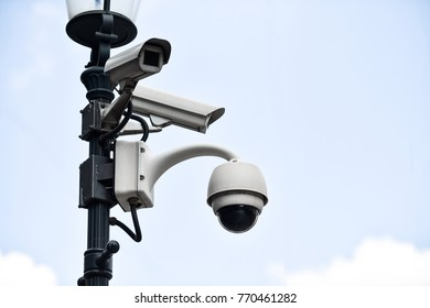 Video surveillance camera on a lighting pole