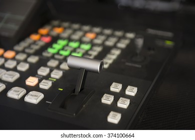 Video switcher of Television Broadcast (Selective Focus)