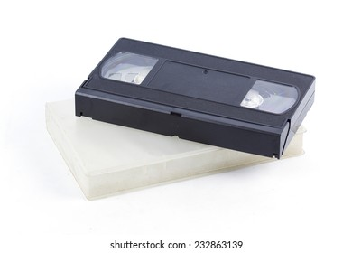 Video Tape with case Isolated on the white background