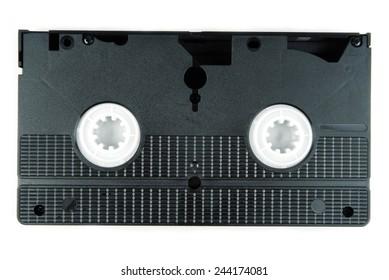 video tape casette isolated on white