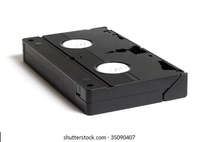 A video tape isolated on white