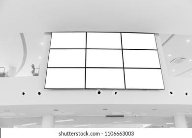 Video wall LED screen array billboard setup installation indoor office hall