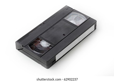 The videotape isolated on white background.