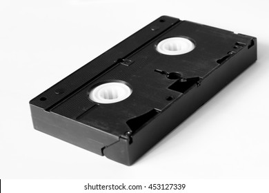 videotape on the white background