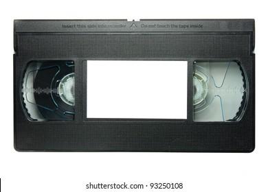 videotape on white background