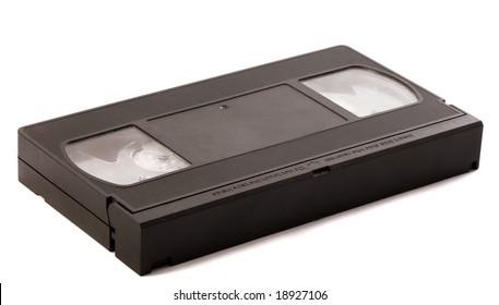 Videotape over white background