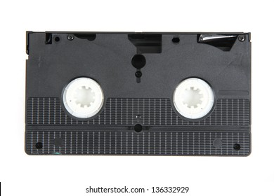 videotape (video cassette) isolated on the white background