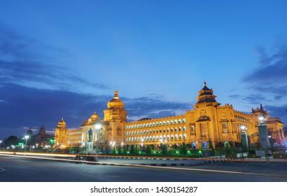 Vidhana Soudha - Bangalore (Bengaluru) in the night