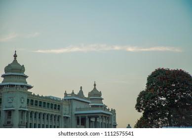 Vidhana soudha, seat of the state legislature of Karnataka in Bangalore, India.