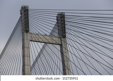 Vidyasagar Setu or Second Hooghly Bridge, is a bridge over the Hooghly River in Kolkata, India. It is the longest cable-stayed bridge in India and one of the longest in Asia length of 822.96 m.