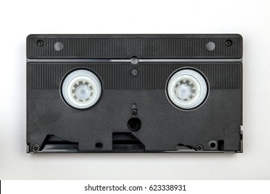 Viee at vintage VHS casette isolated on white
