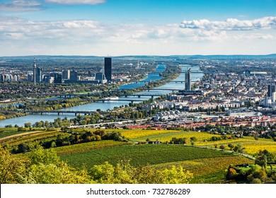 Vienna Aerial View In Autumn