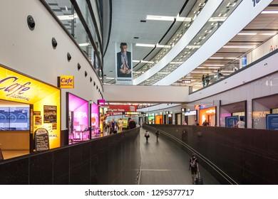 Vienna / Austria - 04 23 2018: Vienna International Airport (VIE, Flughafen Wien-Schwechat)