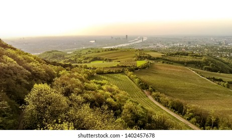 Vienna, Austria - 05.11.2019 - Most famous viewpoint of Vienna Kahlenberg in spring from above,
