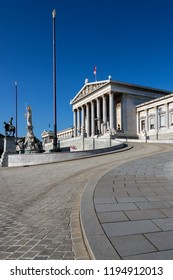 Vienna. Austria. 08.07.16. Parliament Buildings in Vienna, Austria. A bicameral legislature, it consists of two chambers: the National Council (Nationalrat) and the Federal Council.