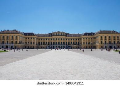 VIENNA, AUSTRIA: 13 August 2019 - Famous Schönbrunn Palace