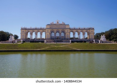 VIENNA, AUSTRIA: 13 August 2019 - Gloriette at the Famous Schönbrunn Palace