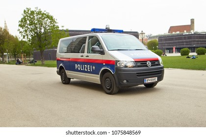 Vienna, Austria - 15 April 2018 Vienna police car auto